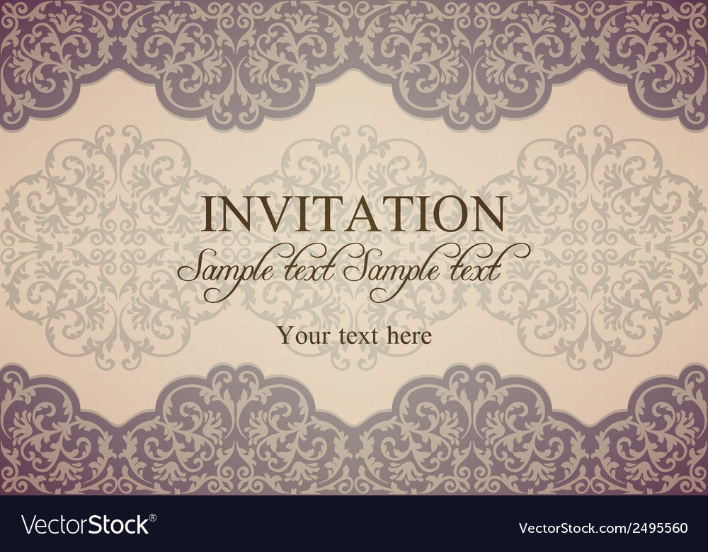 Baroque invitation patina vector | Price: 1 Credit (USD $1)