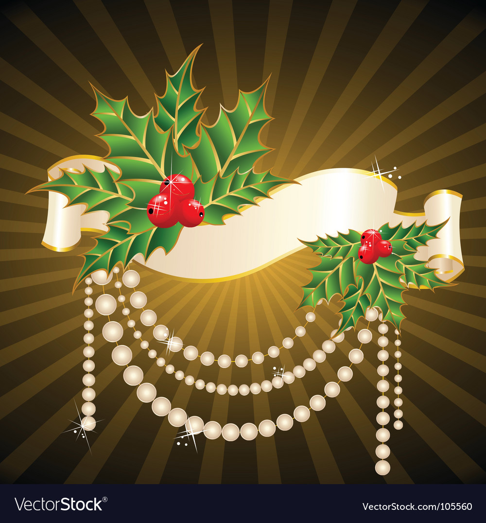 Christmas garnish vector | Price: 1 Credit (USD $1)