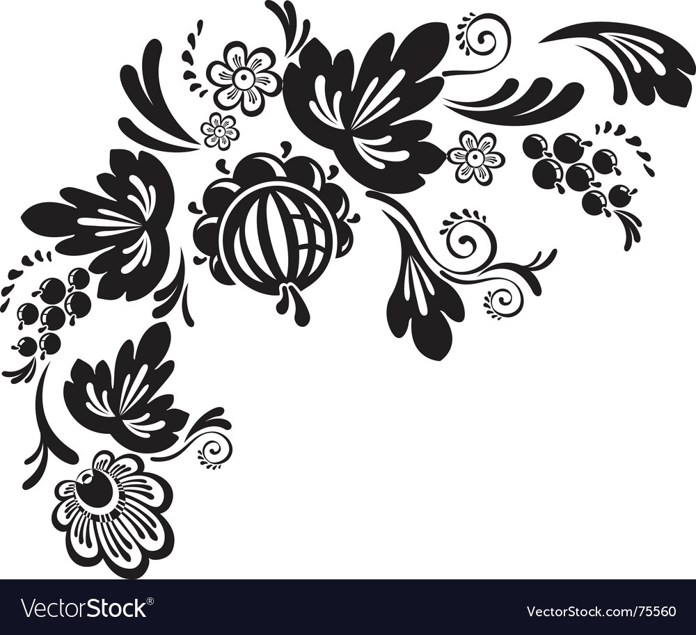 Corner decor element vector | Price: 1 Credit (USD $1)