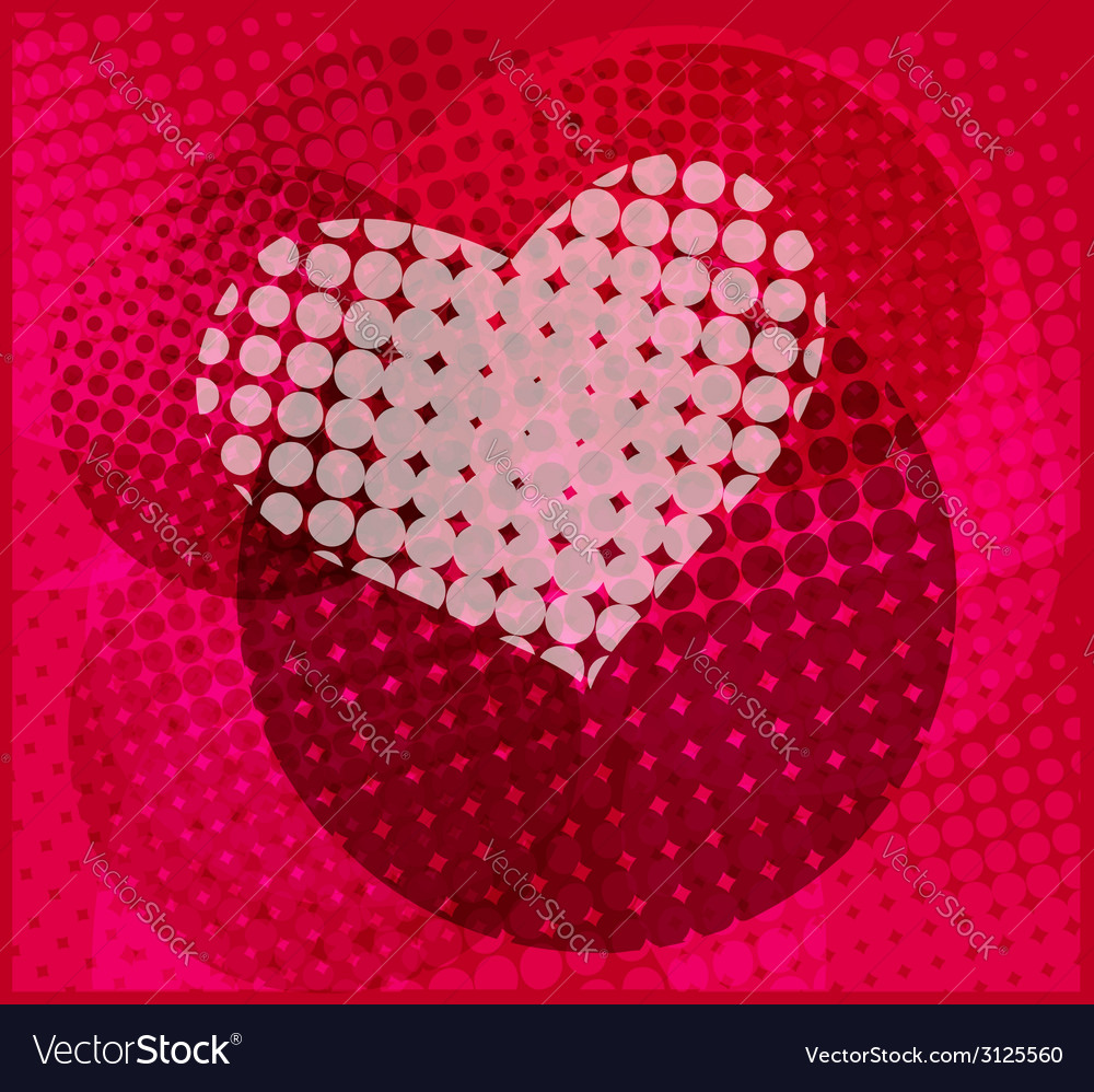 Halftone heart vector | Price: 1 Credit (USD $1)