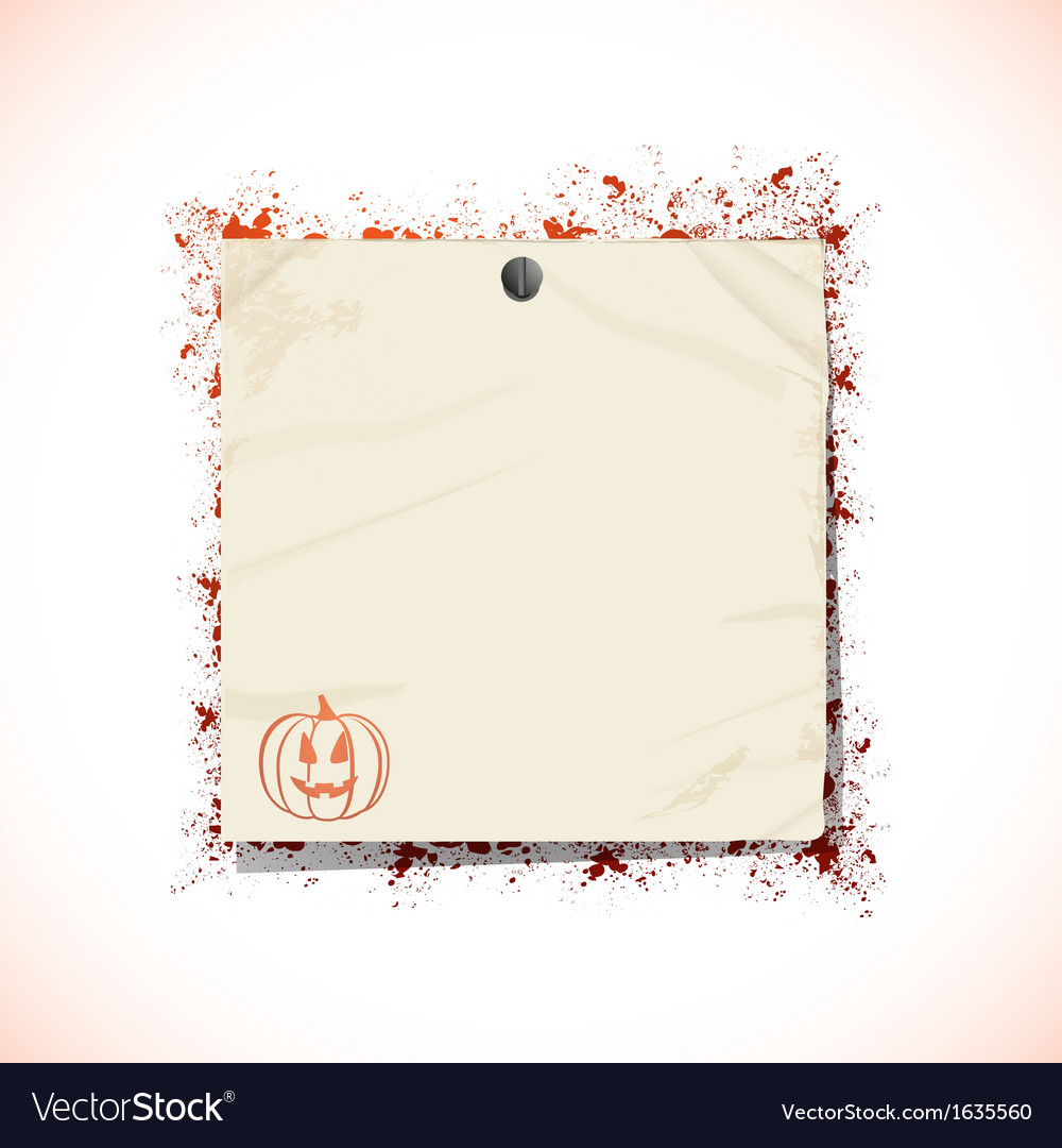 Halloween crupmpled background vector | Price: 1 Credit (USD $1)