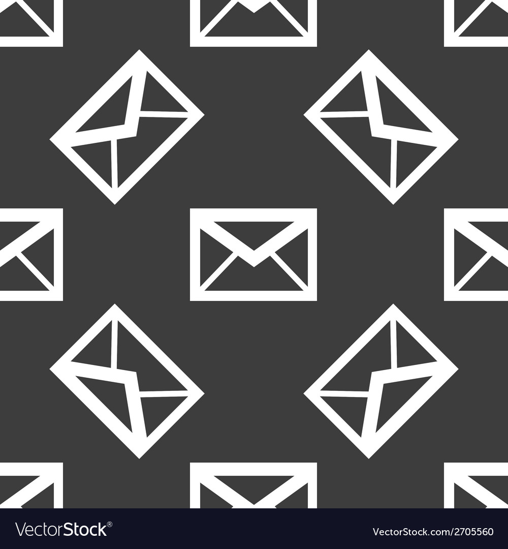 Mail envelope web icon flat design seamless vector | Price: 1 Credit (USD $1)