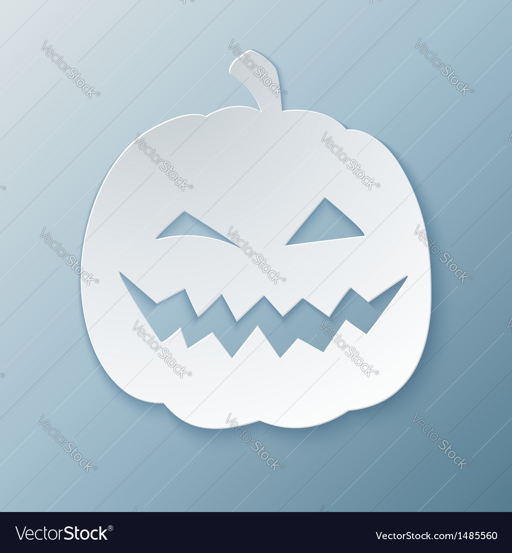 Paper pumpkin vector | Price: 1 Credit (USD $1)