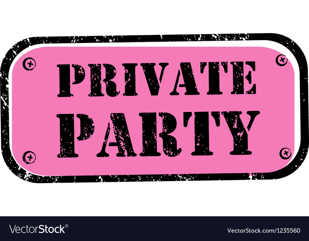 Private party stamp vector | Price: 1 Credit (USD $1)