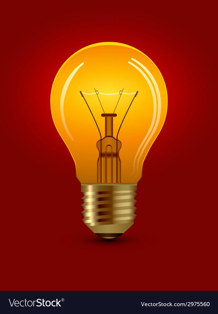 Shining bulb vector | Price: 1 Credit (USD $1)