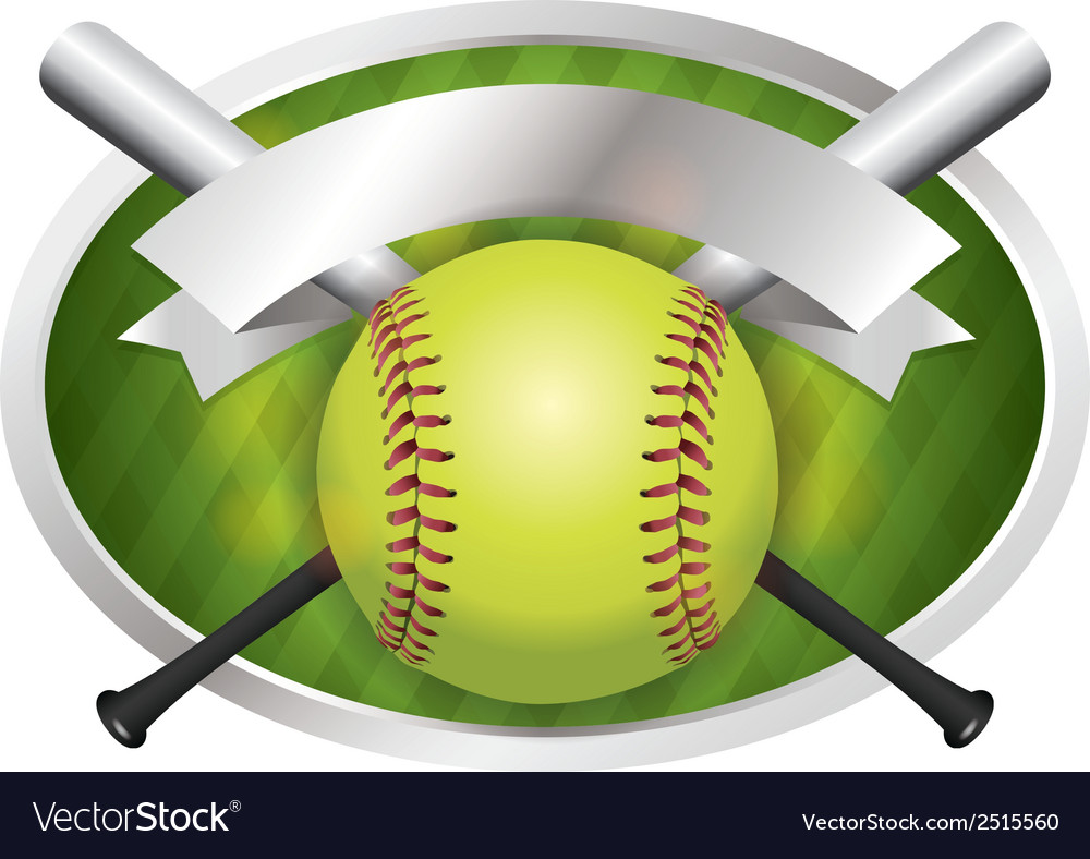 Softball champions emblem vector | Price: 1 Credit (USD $1)