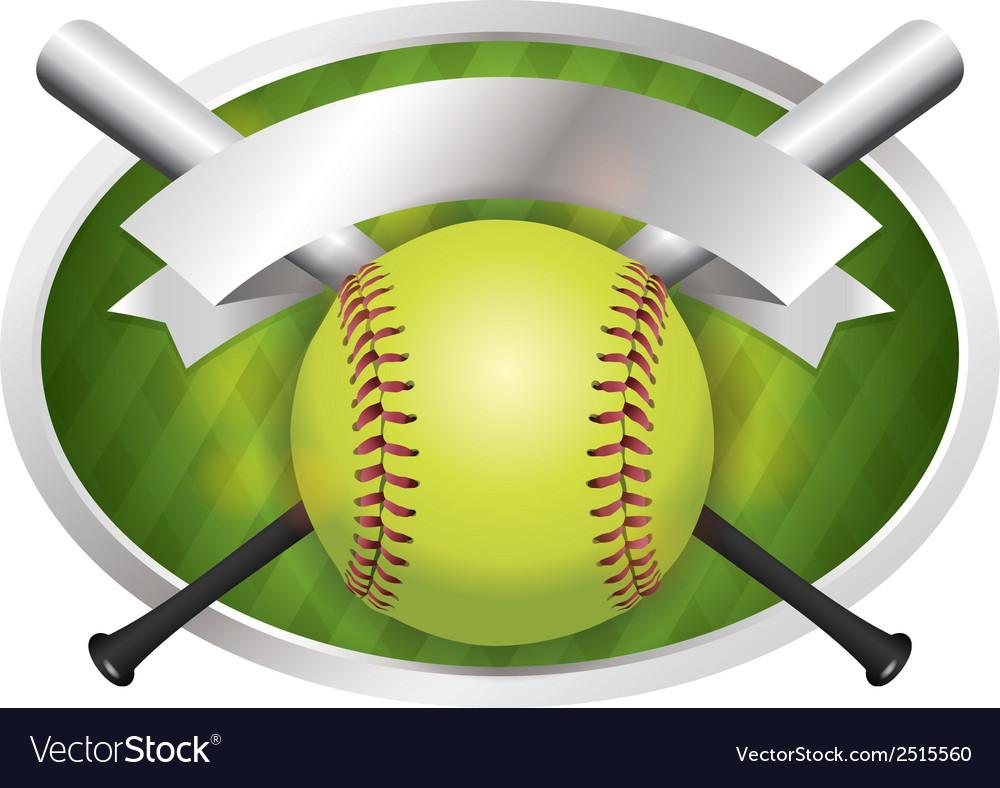 Softball champions emblem vector | Price: 1 Credit (USD $1)