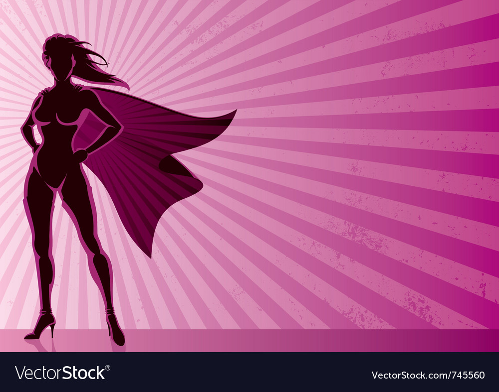 Super heroine background vector | Price: 1 Credit (USD $1)