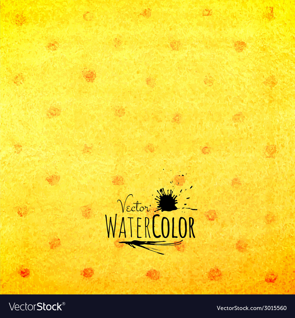 Watercolor polka dot pattern yellow orange and red vector | Price: 1 Credit (USD $1)