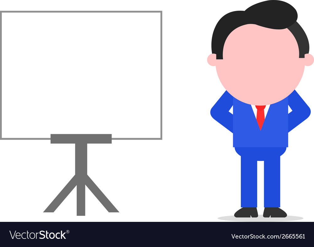 Businessman hands behind back beside chart vector | Price: 1 Credit (USD $1)