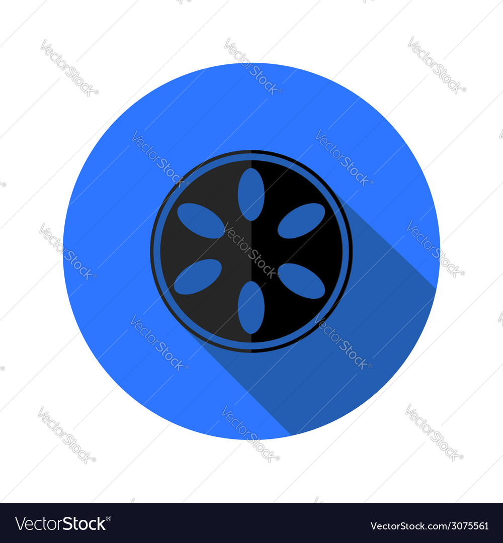 Camera spool flat icon vector | Price: 1 Credit (USD $1)