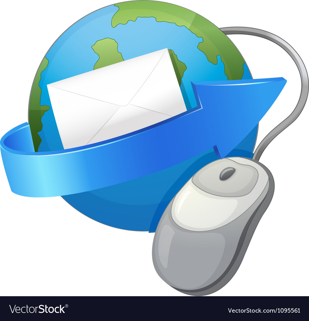 Earth arrow envelop and a mouse vector | Price: 1 Credit (USD $1)
