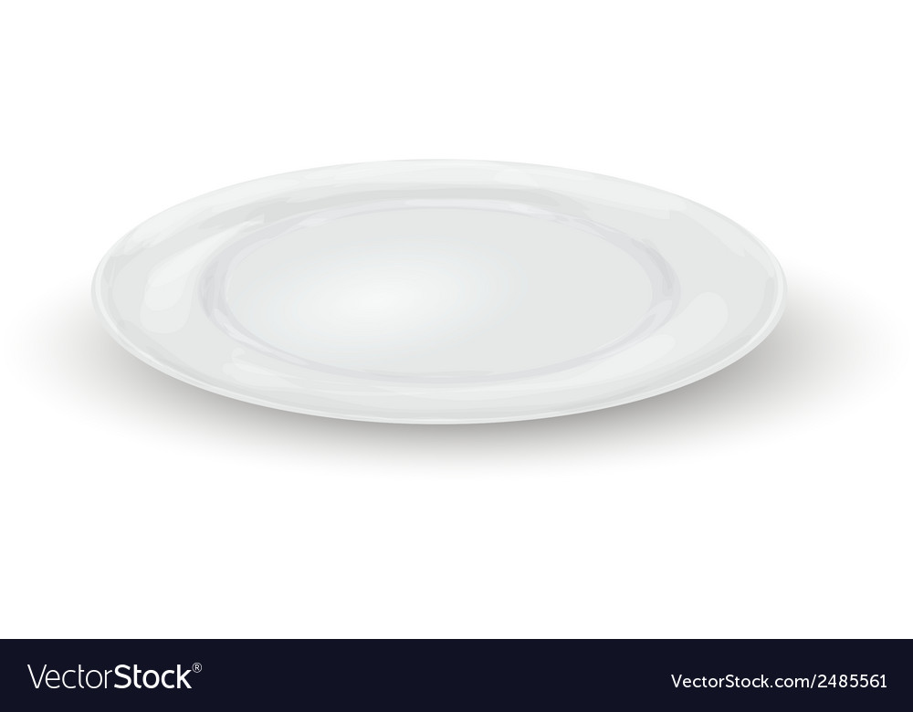 Empty dinner plate vector | Price: 1 Credit (USD $1)