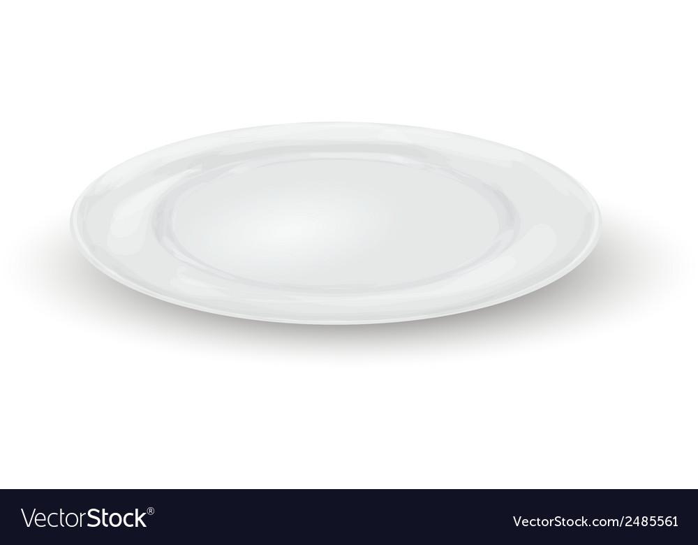 Empty dinner plate vector | Price: 1 Credit (USD $1)