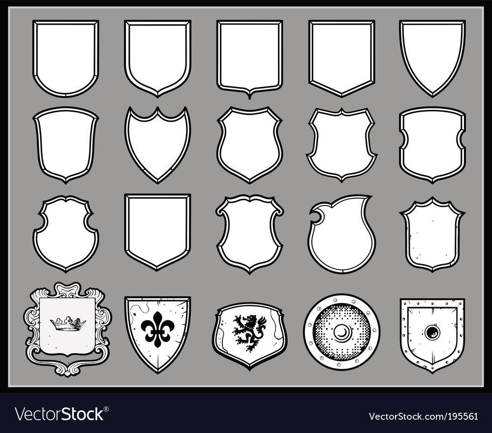 Heraldic shields template vector | Price: 1 Credit (USD $1)