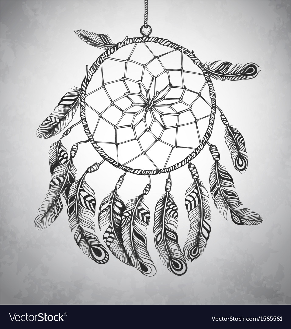 Indian dream catcher vector | Price: 1 Credit (USD $1)
