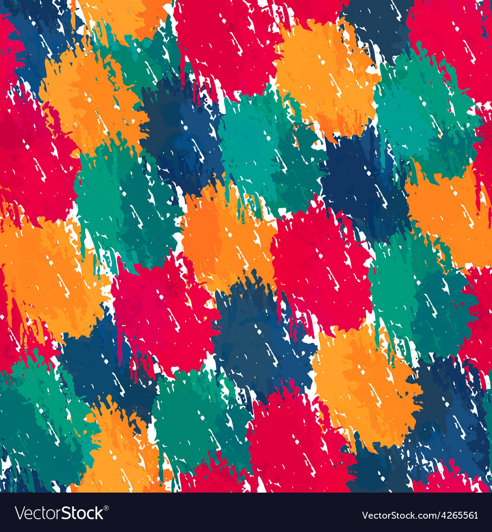 Painting style seamless pattern vector | Price: 1 Credit (USD $1)