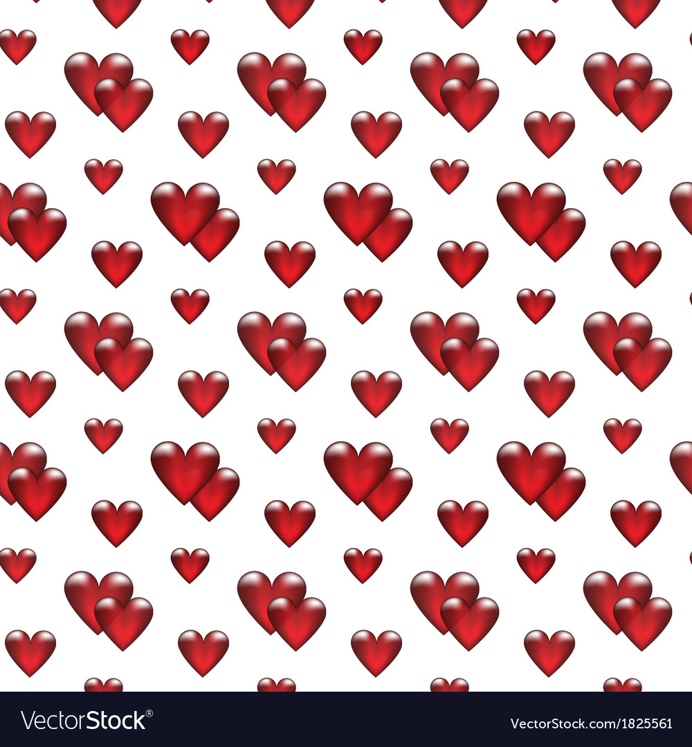 Seamless background with glass hearts vector | Price: 1 Credit (USD $1)