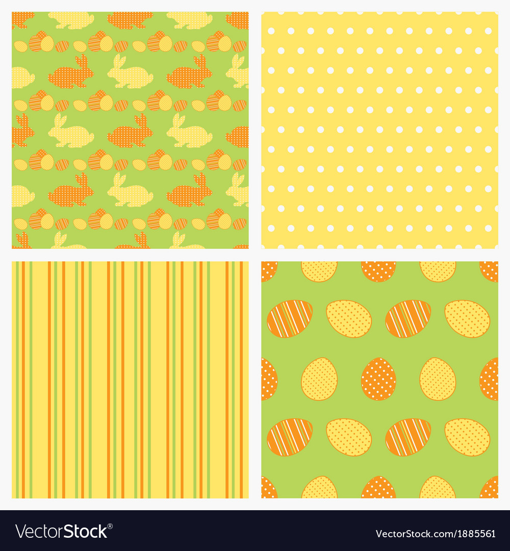 Set of seamless easter paper vector | Price: 1 Credit (USD $1)