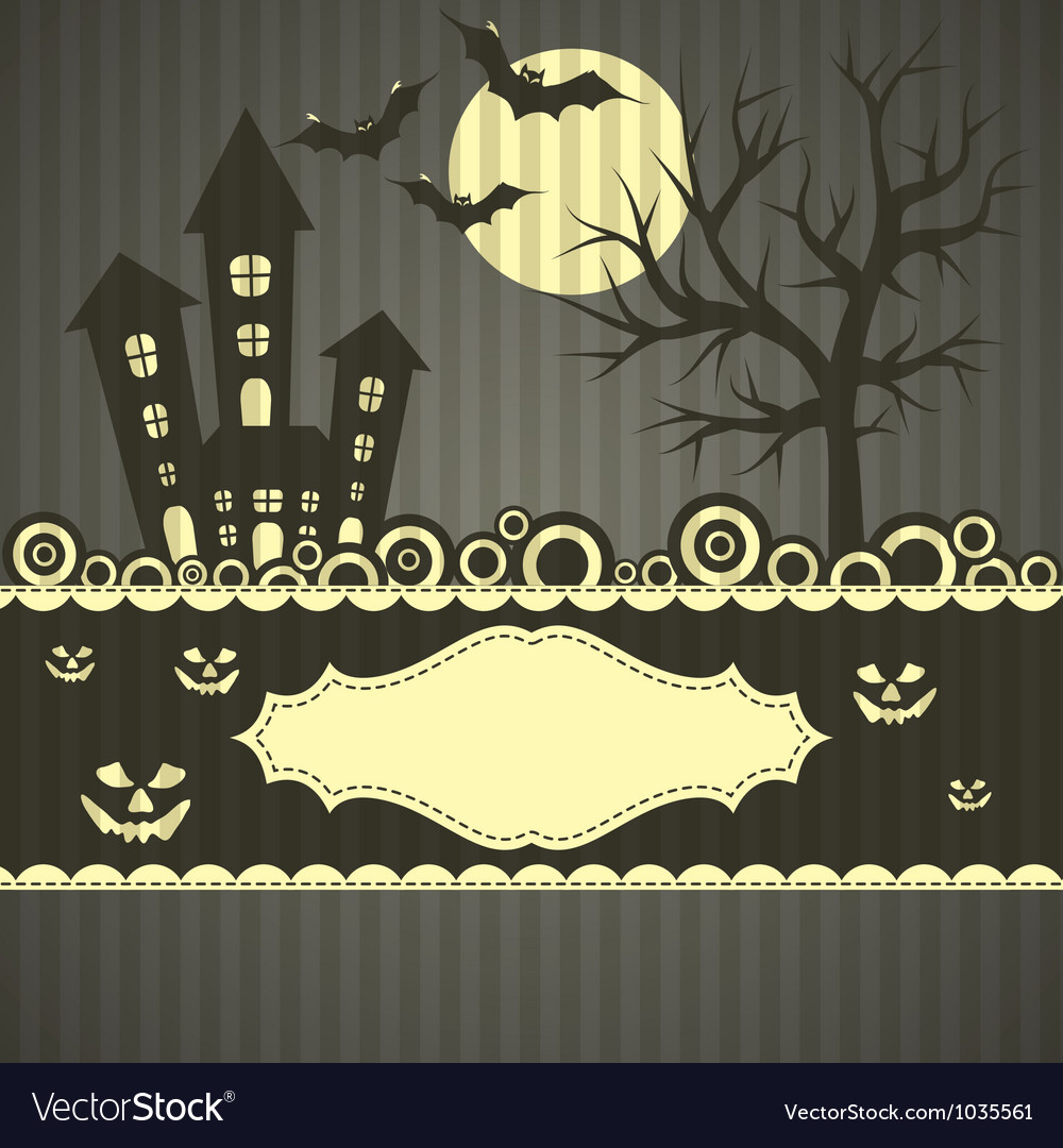 Template halloween greeting card vector | Price: 1 Credit (USD $1)
