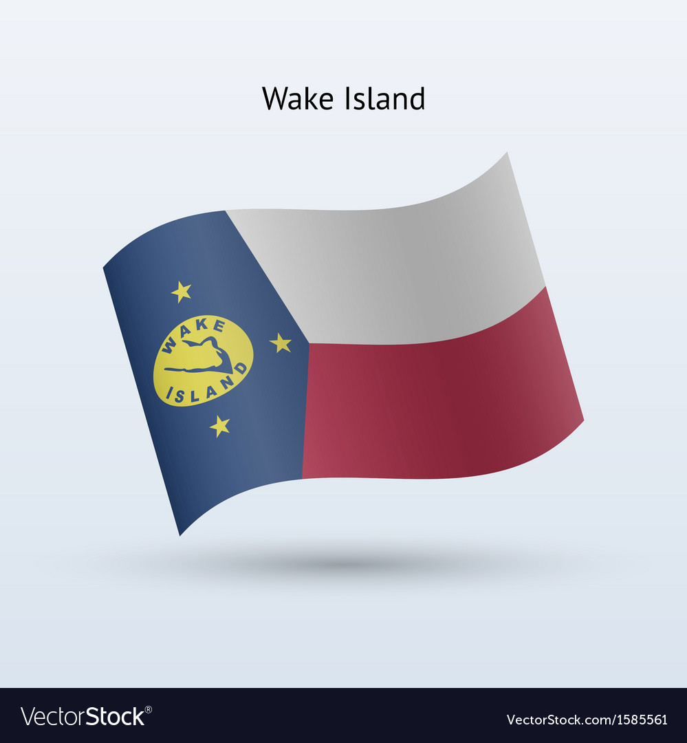 Wake island flag waving form vector | Price: 1 Credit (USD $1)