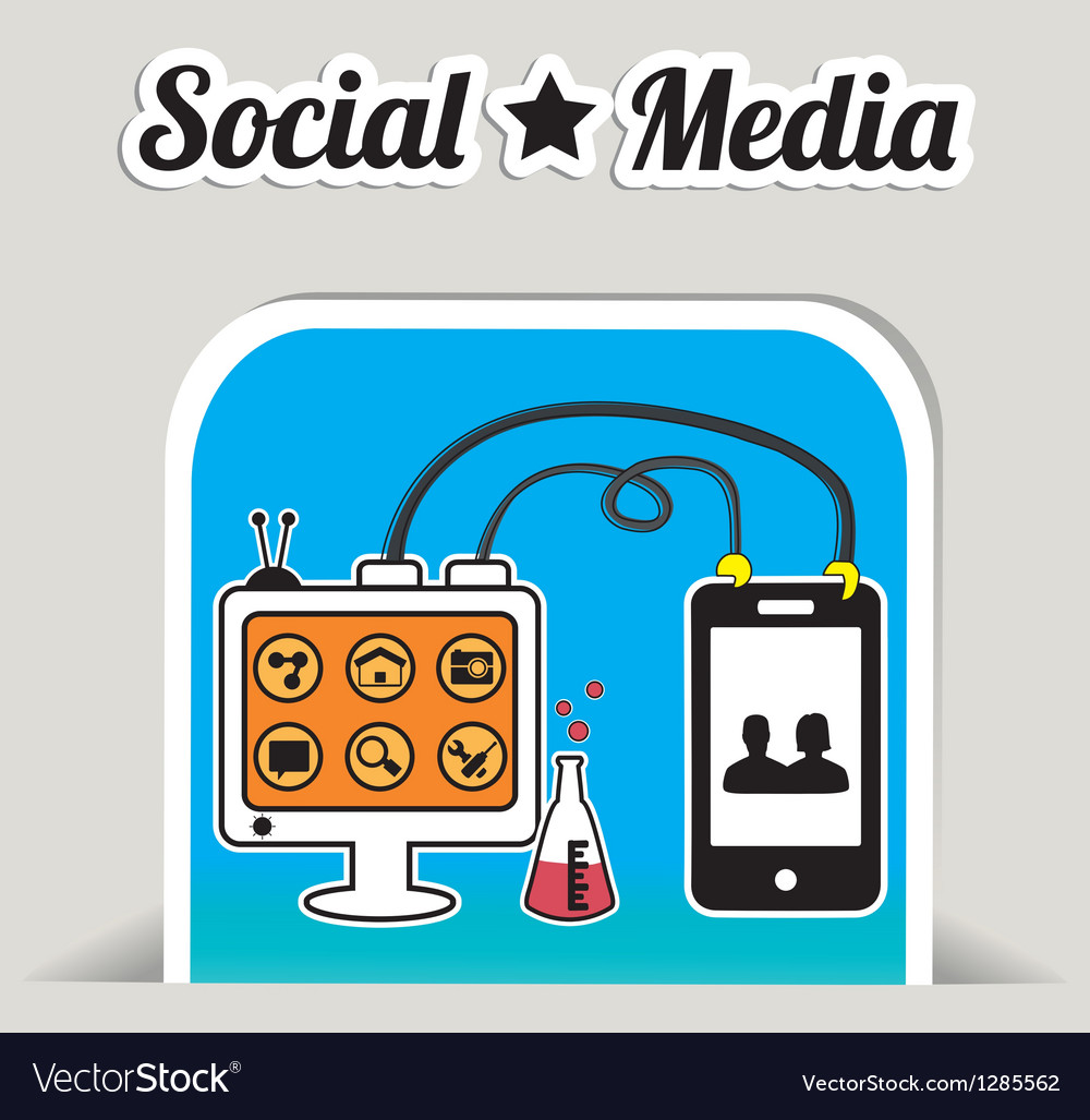Abstract concept of social media with bookmark vector | Price: 1 Credit (USD $1)