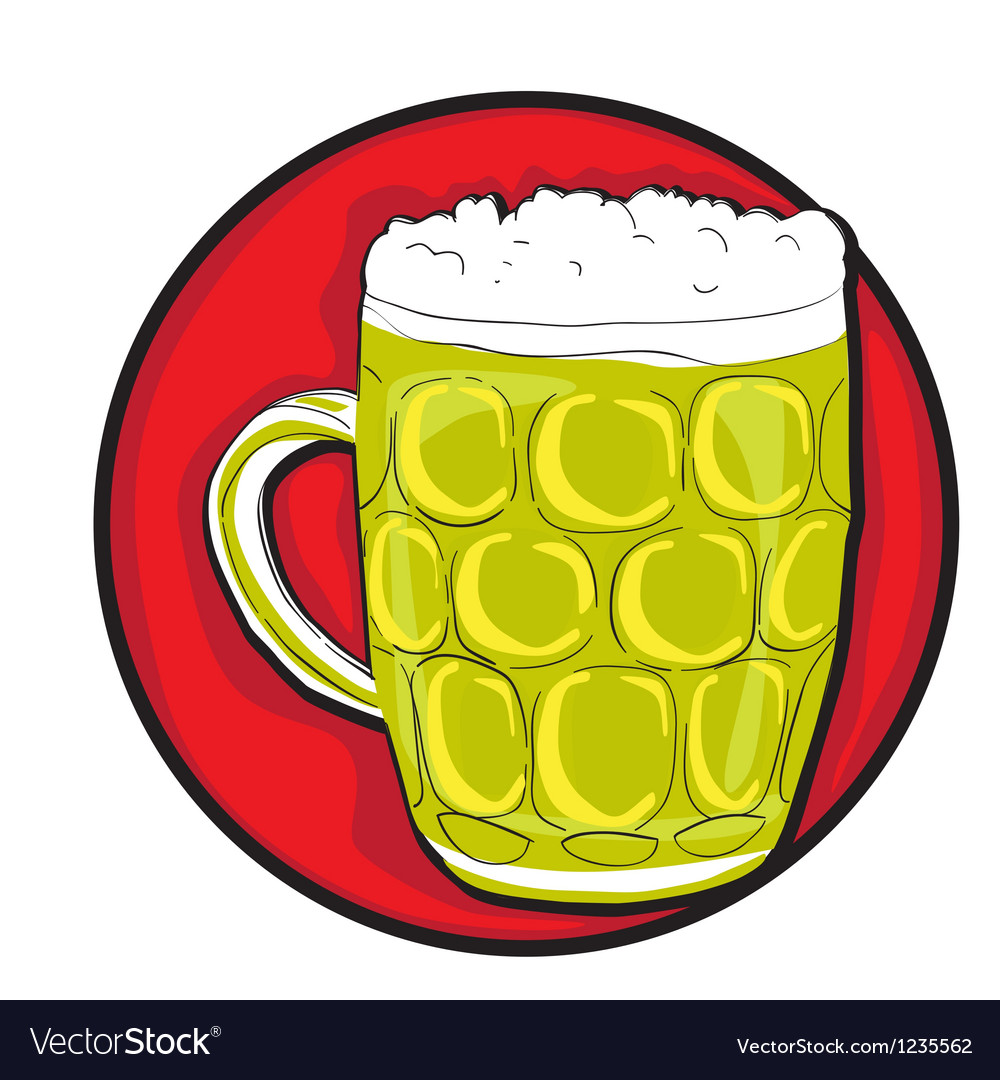 Beer pint clip art vector | Price: 1 Credit (USD $1)