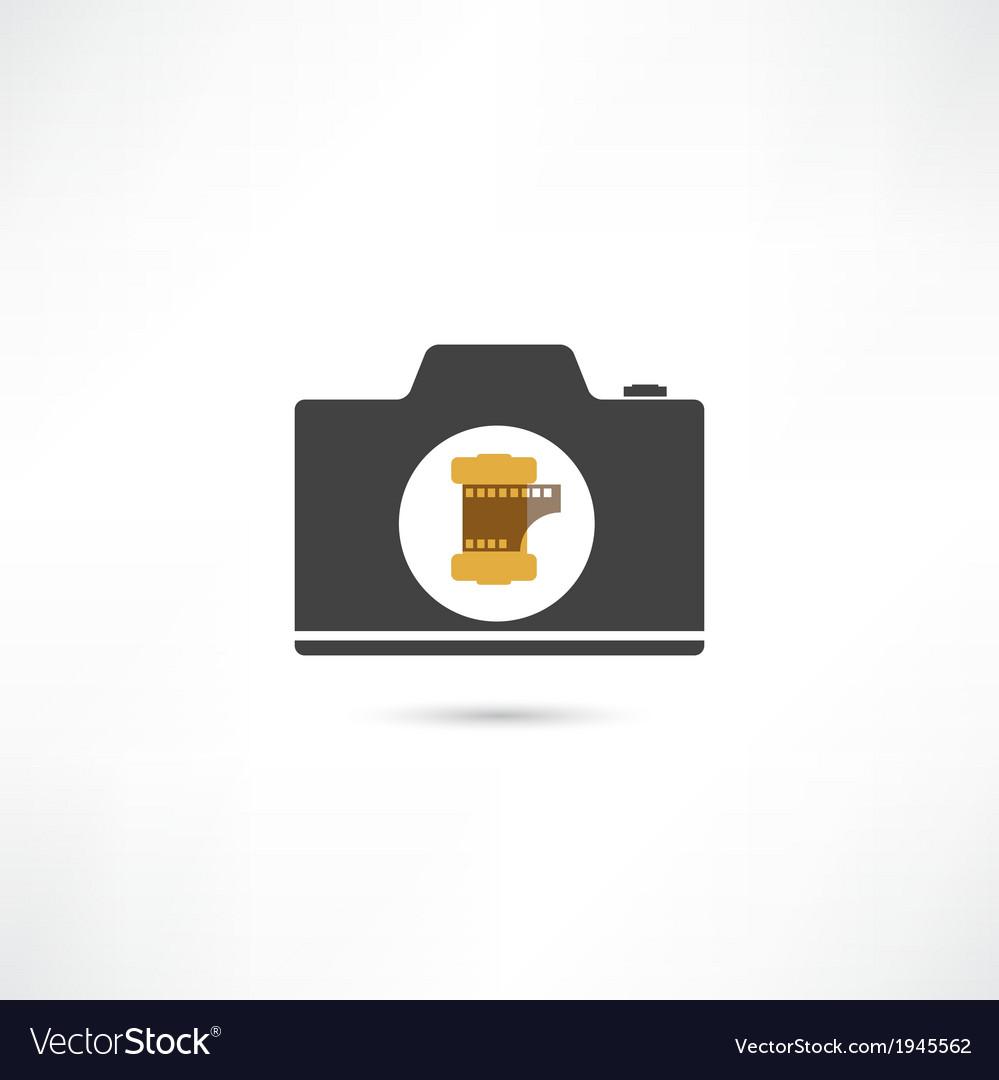 Black camera vector | Price: 1 Credit (USD $1)