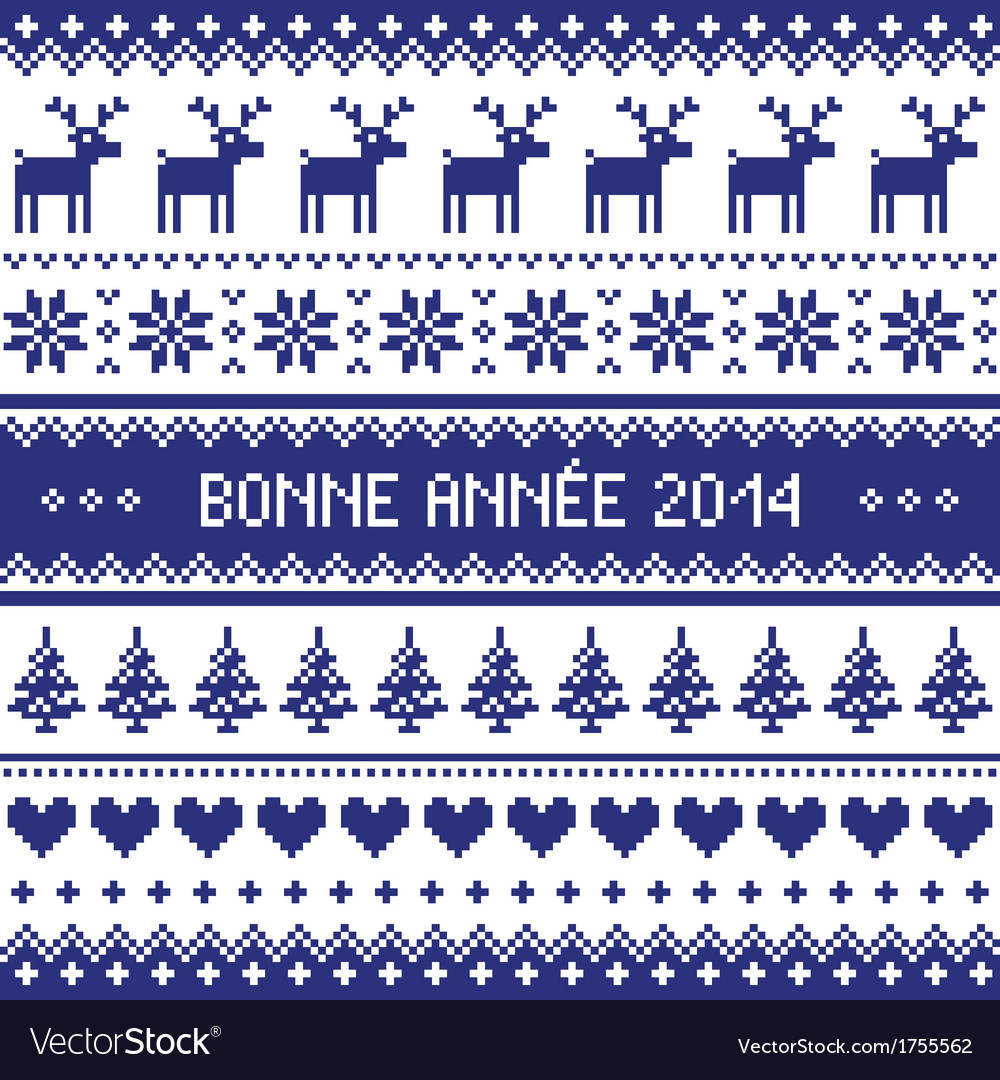 Bonne annee 2014 - french happy new year pattern vector | Price: 1 Credit (USD $1)