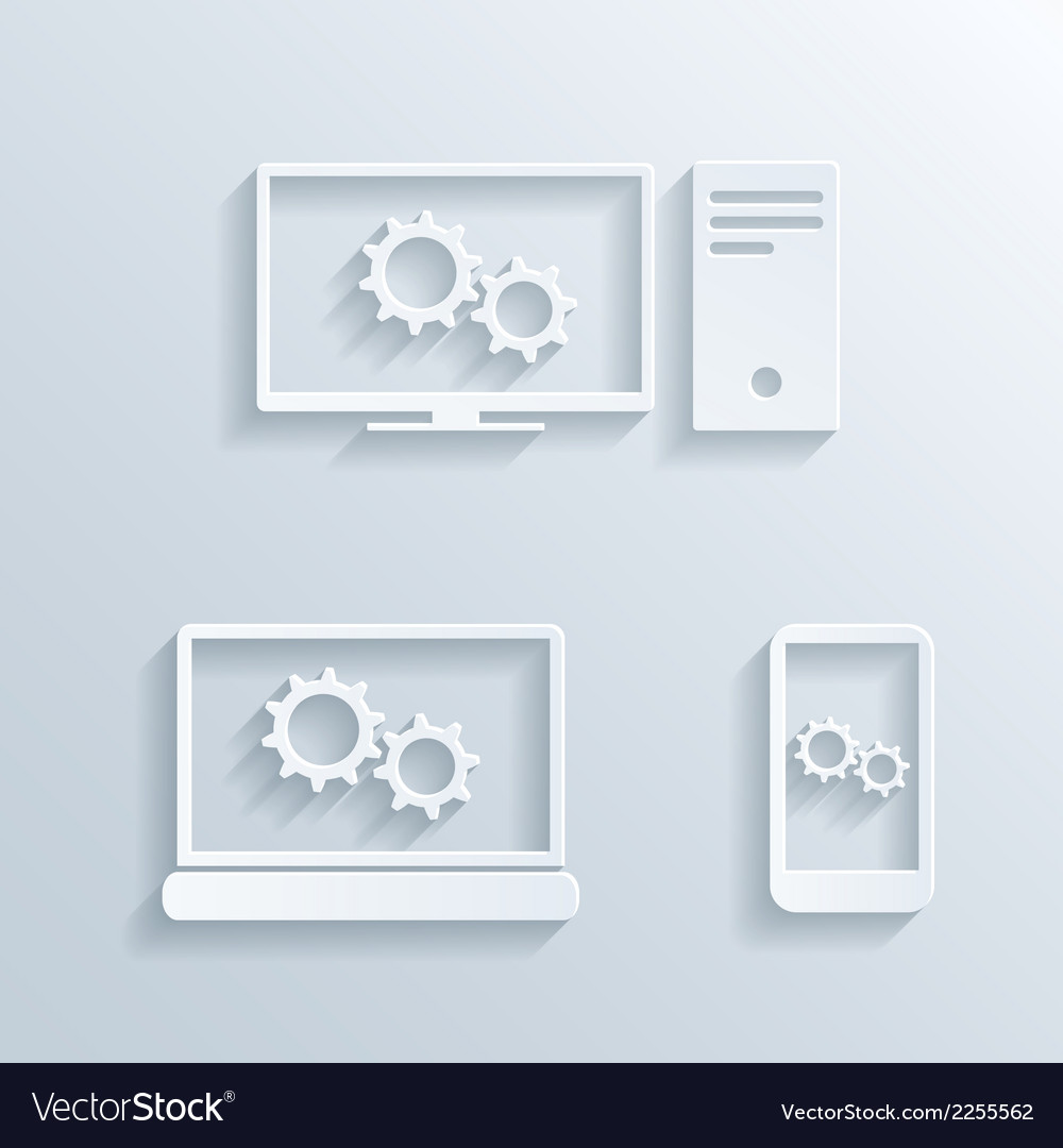 Computers icons vector | Price: 1 Credit (USD $1)