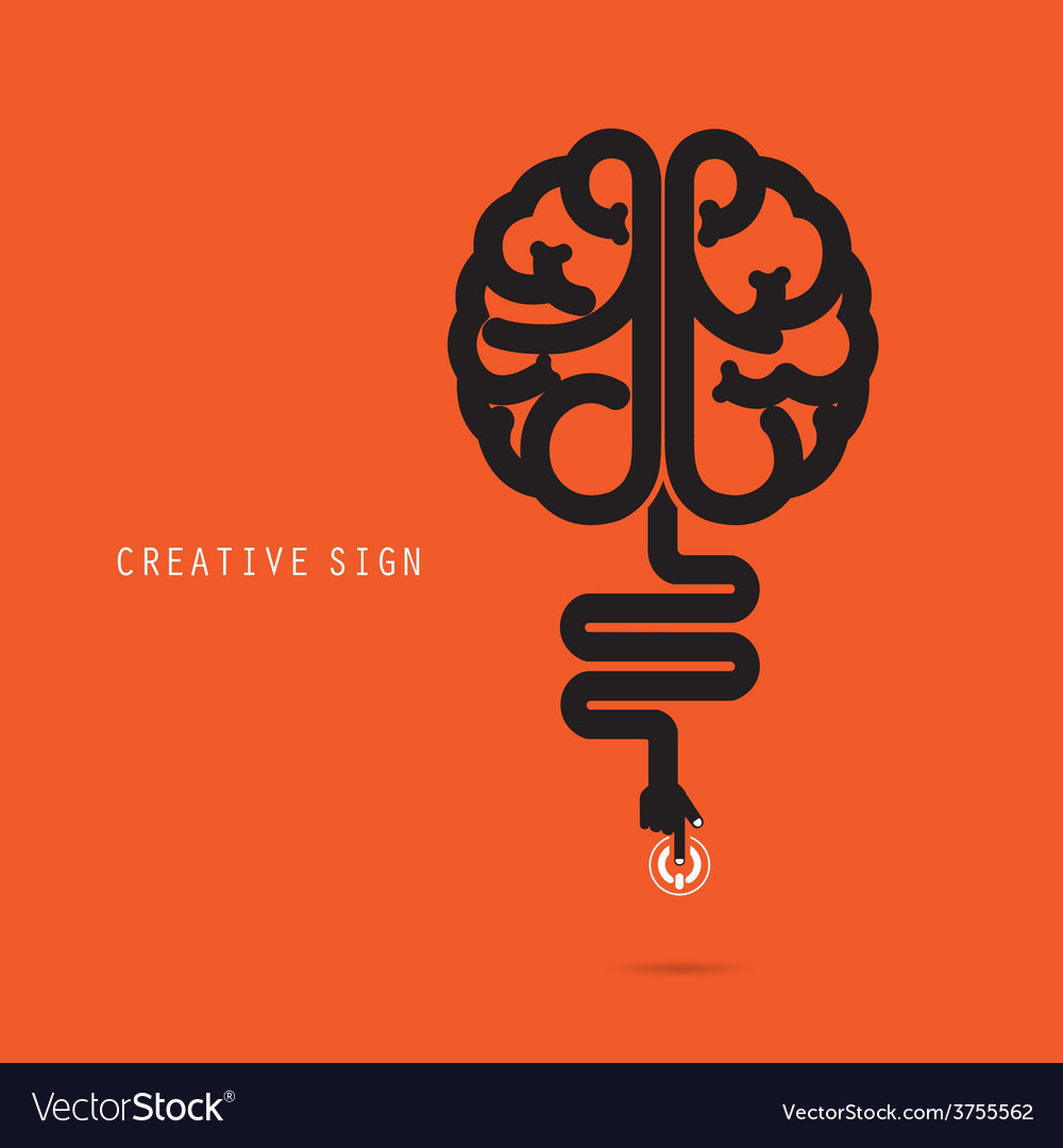 Creative brain concept design for poster vector | Price: 1 Credit (USD $1)