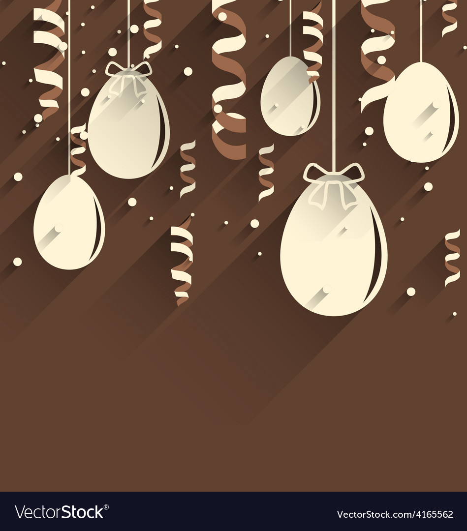 Easter chocolate background with eggs and vector | Price: 1 Credit (USD $1)