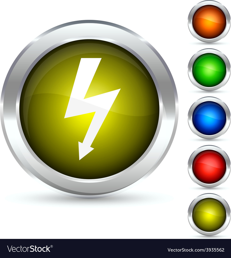 Flash button vector | Price: 1 Credit (USD $1)