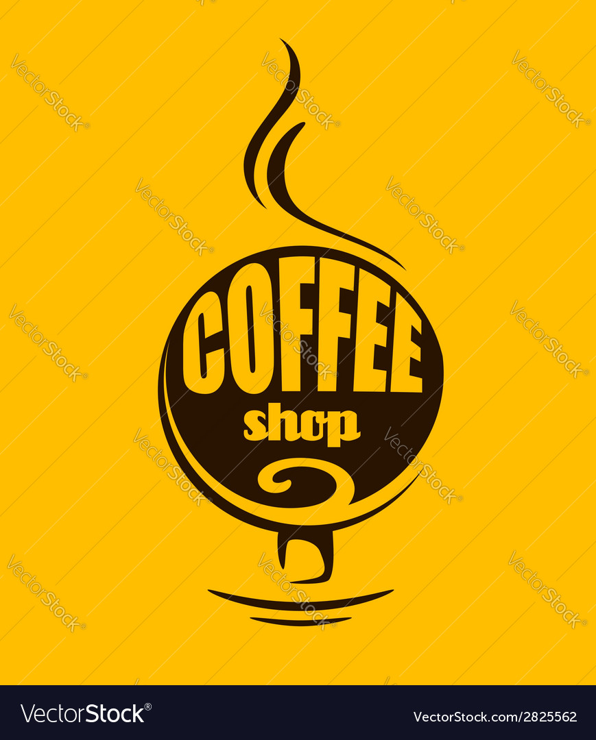 Hot steaming coffee banner vector | Price: 1 Credit (USD $1)