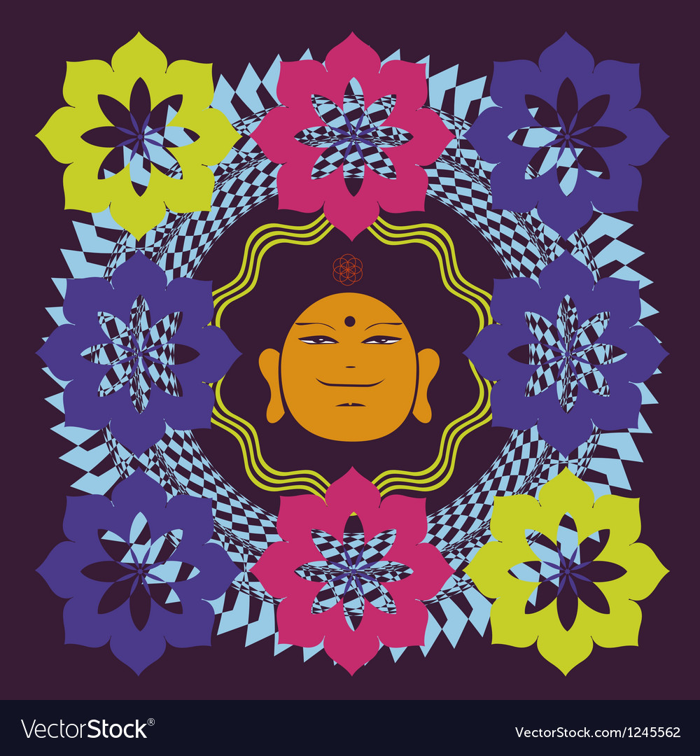 Lotus buddah poster vector | Price: 1 Credit (USD $1)