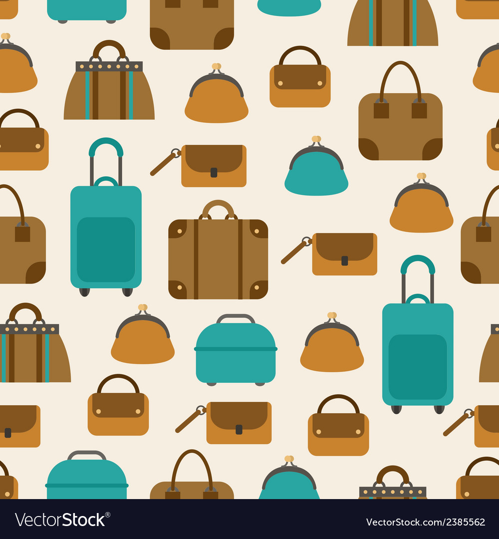 Seamless pattern of bags luggage baggage vector | Price: 1 Credit (USD $1)