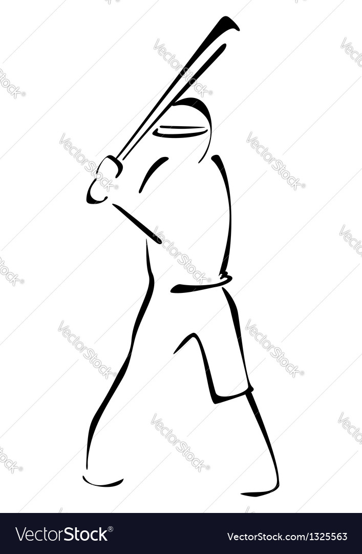 Baseball striker vector | Price: 1 Credit (USD $1)