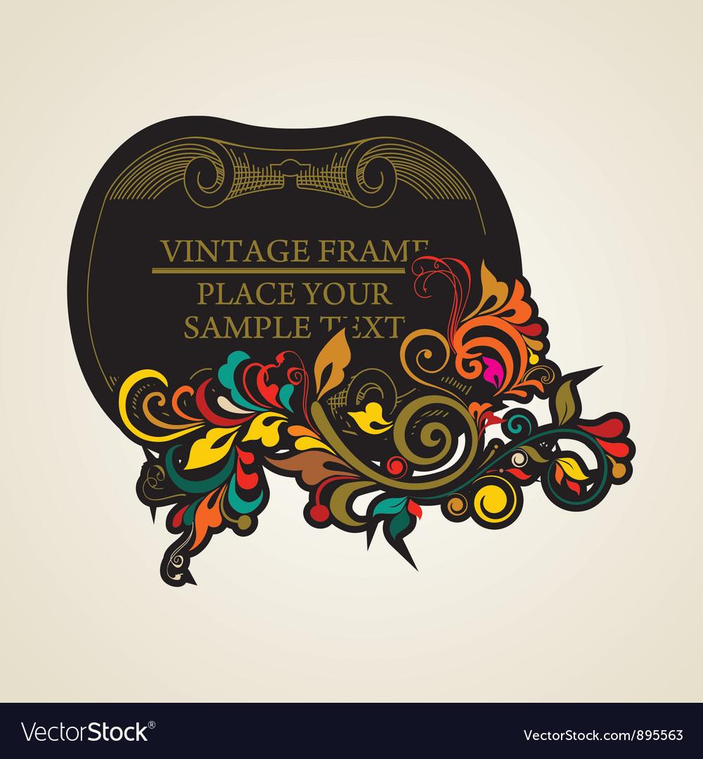 Elegance vintage frames for your text vector | Price: 1 Credit (USD $1)