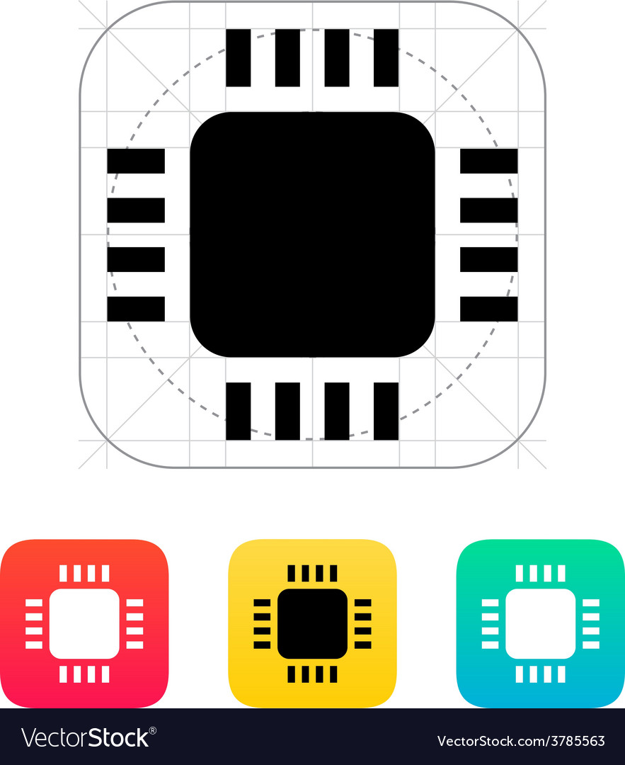Mini cpu icon vector | Price: 1 Credit (USD $1)