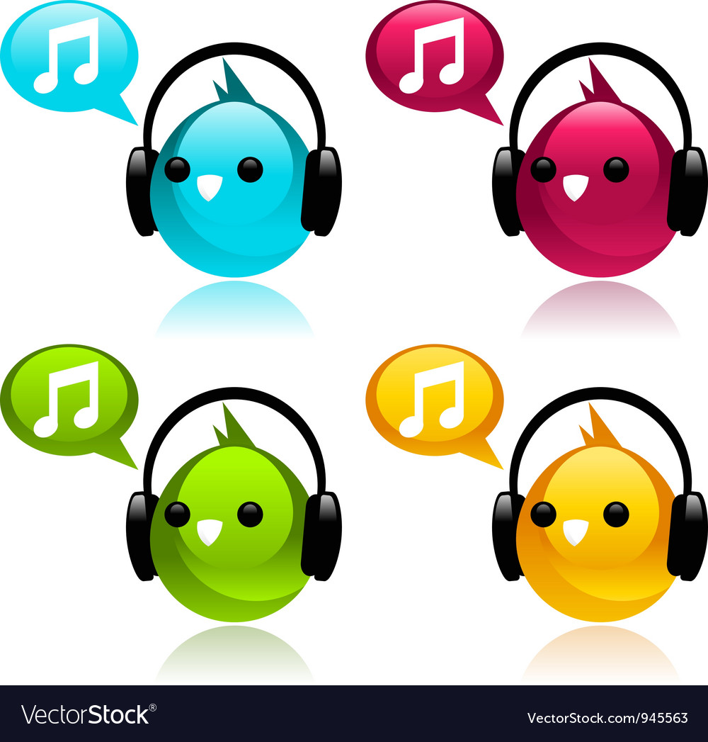 Music birds vector | Price: 1 Credit (USD $1)