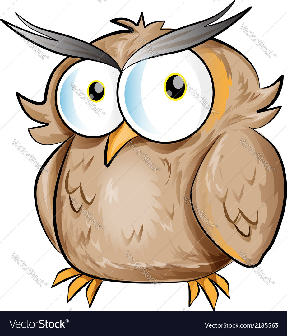 Owl cartoon vector | Price: 1 Credit (USD $1)
