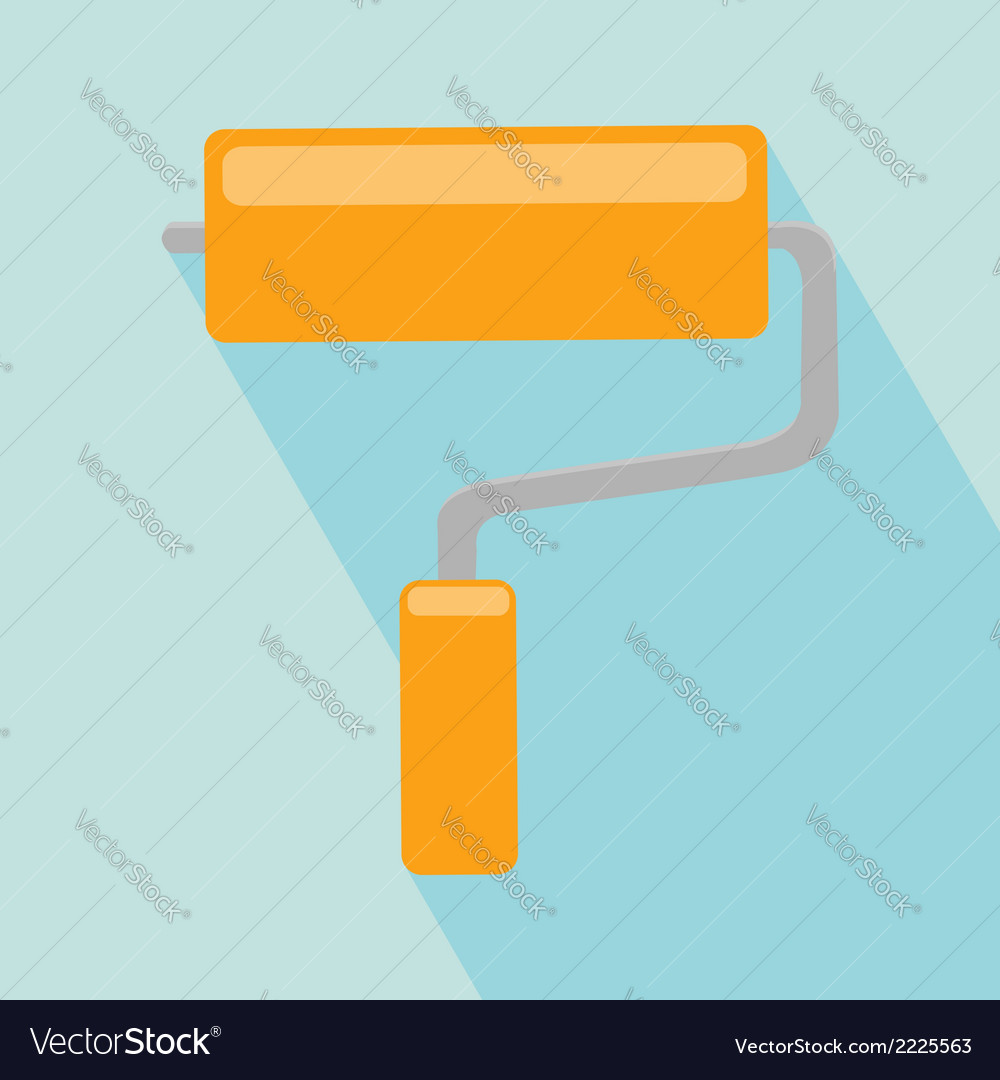Paint roller icon vector | Price: 1 Credit (USD $1)