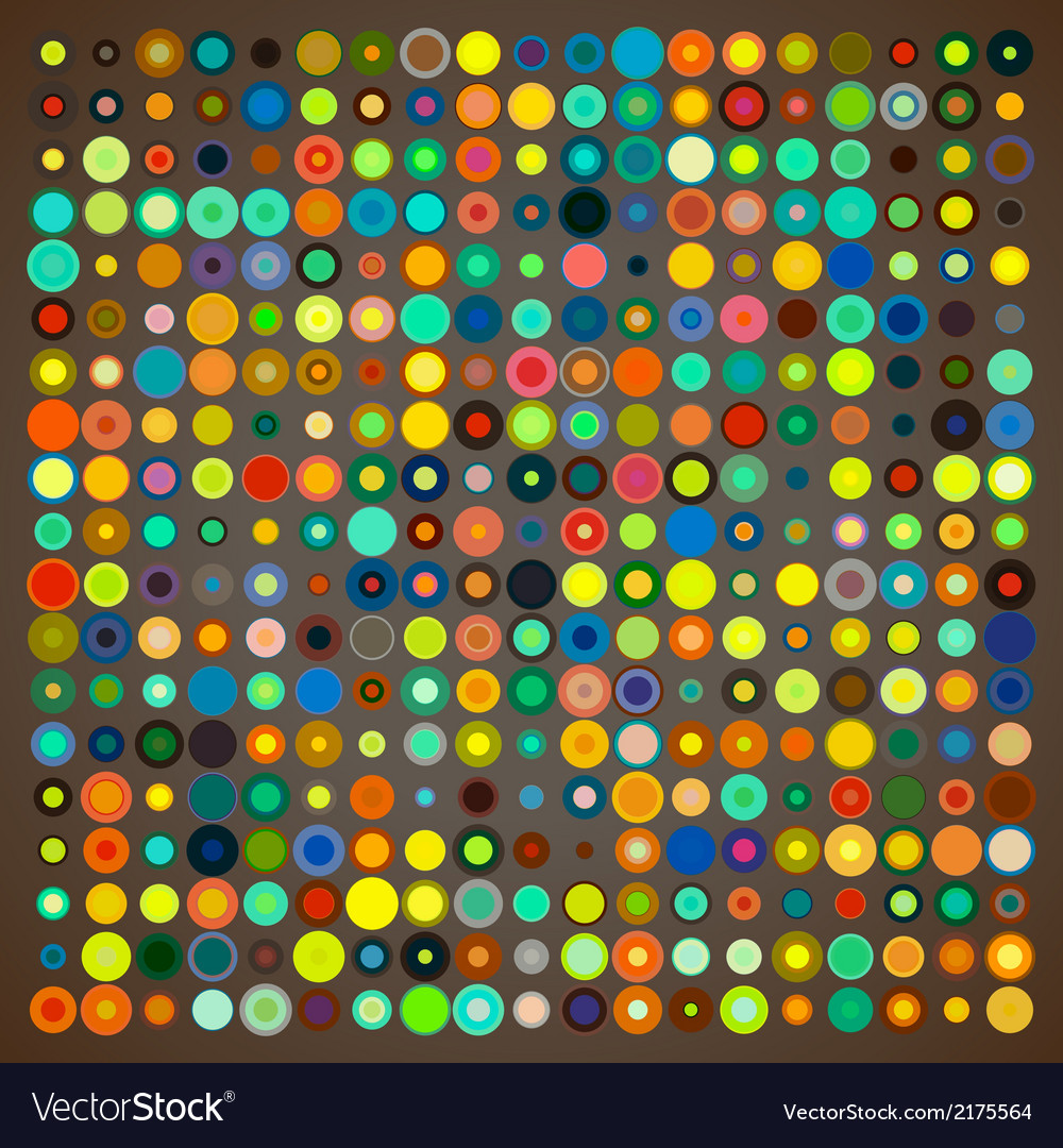 Abstract background of colored circles vector | Price: 1 Credit (USD $1)