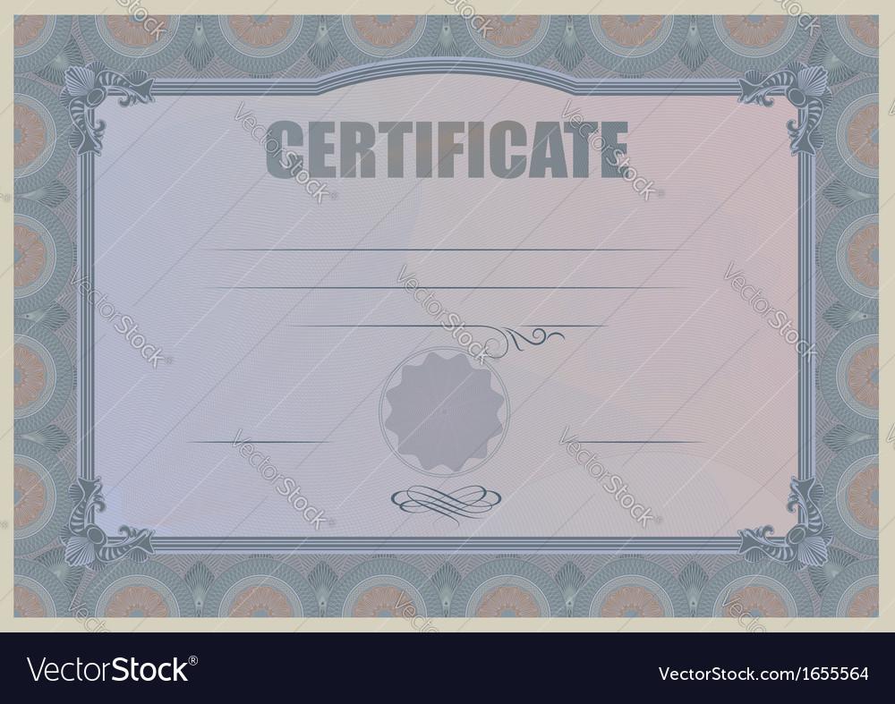 Certificate violet vector | Price: 1 Credit (USD $1)