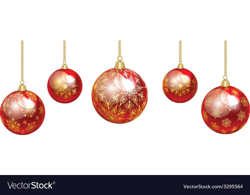 Colorful baubles vector | Price: 1 Credit (USD $1)