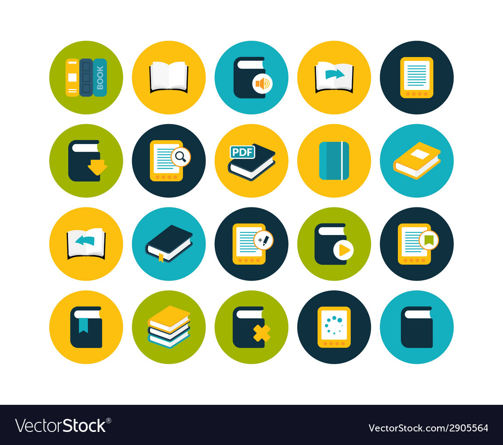 Flat icons set 21 vector | Price: 1 Credit (USD $1)