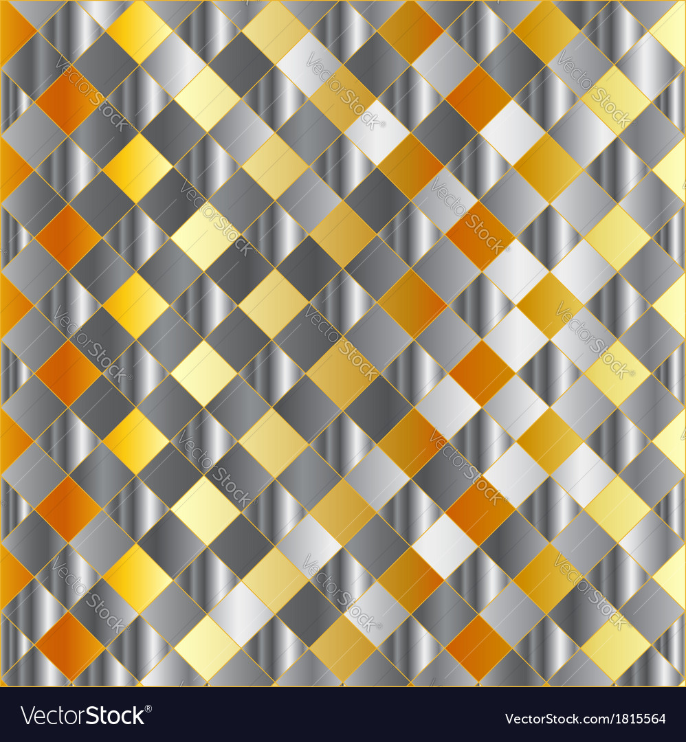Gold and silver chequered background vector | Price: 1 Credit (USD $1)