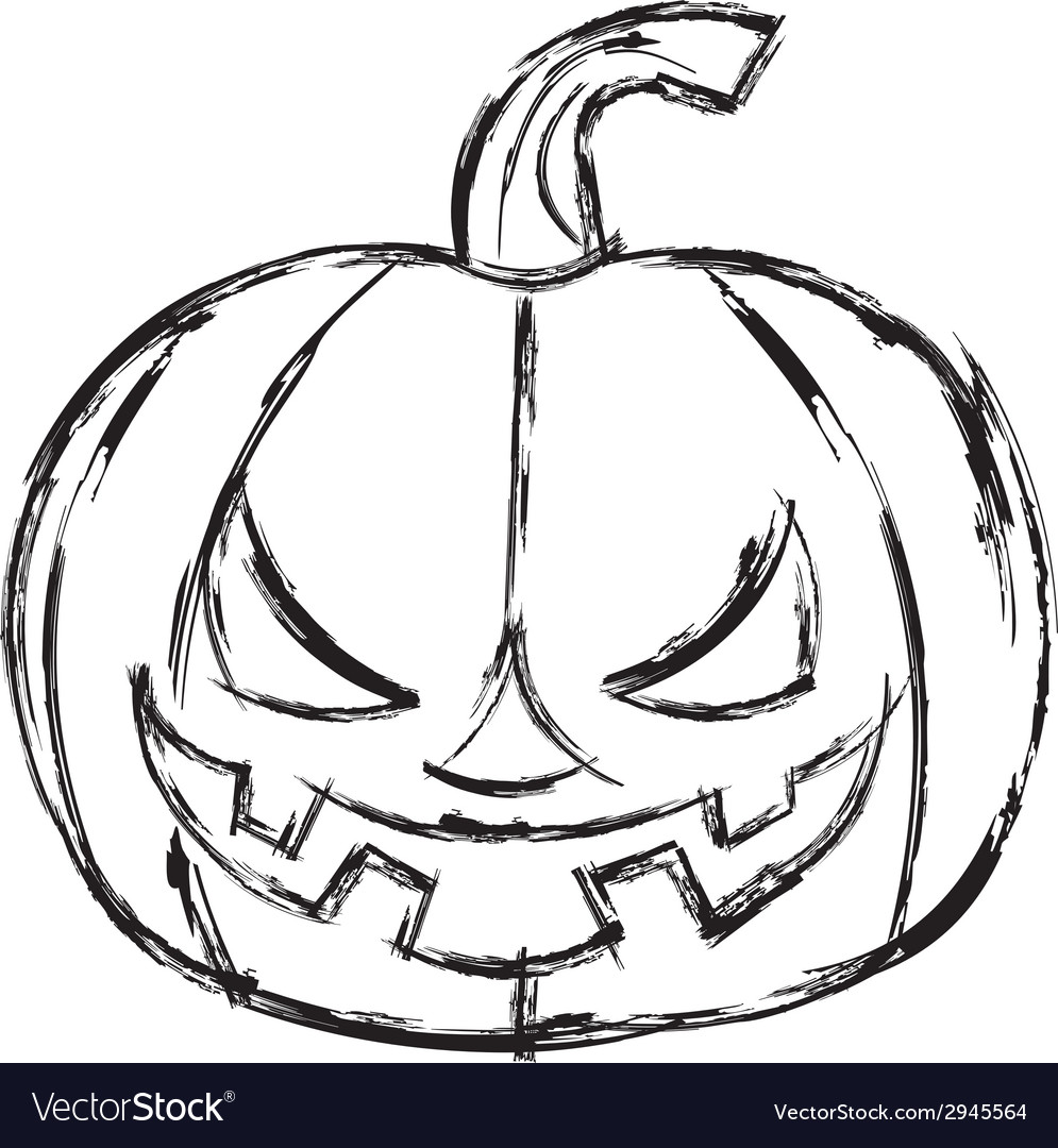 Halloween cartoon pumpkin vector | Price: 1 Credit (USD $1)
