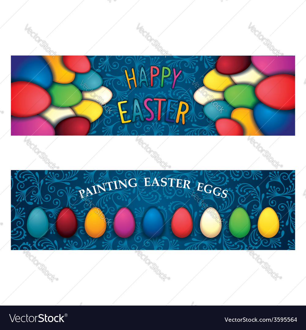 Happy easter banner vector | Price: 1 Credit (USD $1)