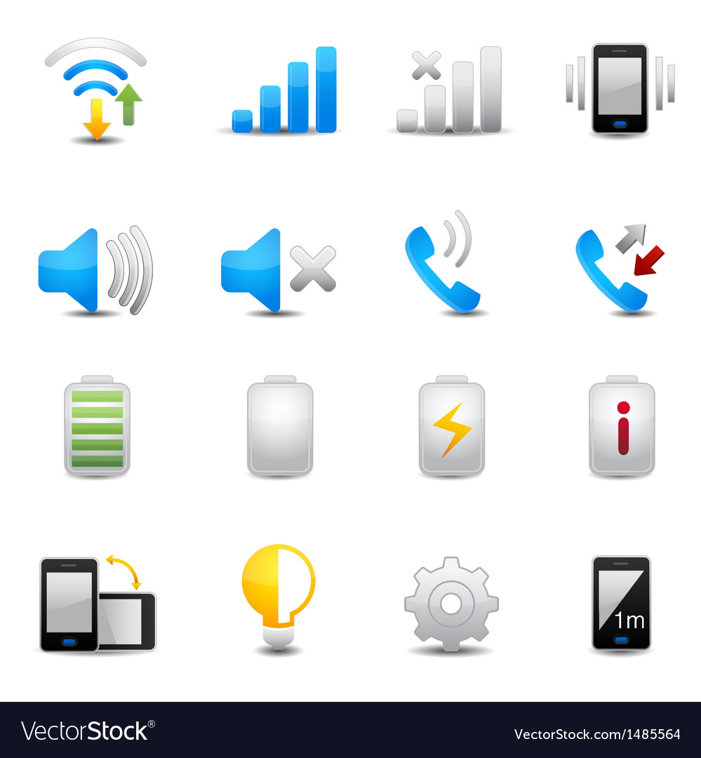 Icons set for mobile phone vector | Price: 3 Credit (USD $3)